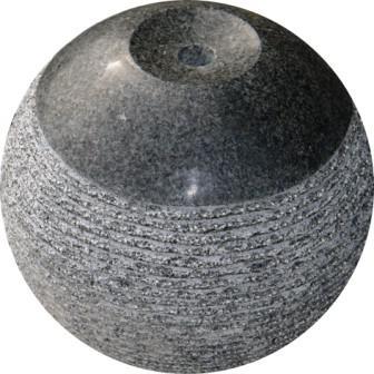 Brunnen Kugel in Granit Kuru Dark - Eberhart Stone Group